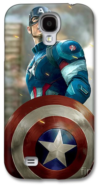 Captain America With Helmet Galaxy S4 Case
