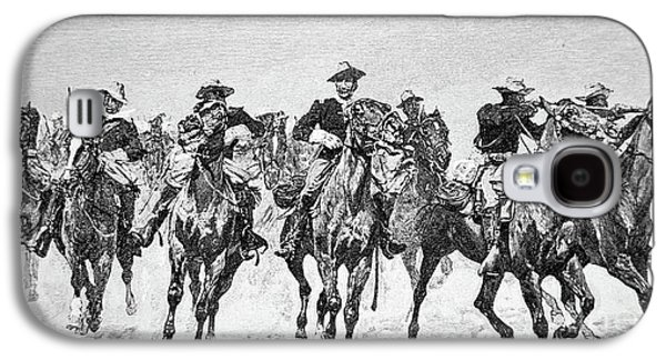 Captain Dodge's Troopers To The Rescue Galaxy S4 Case by Frederic Remington