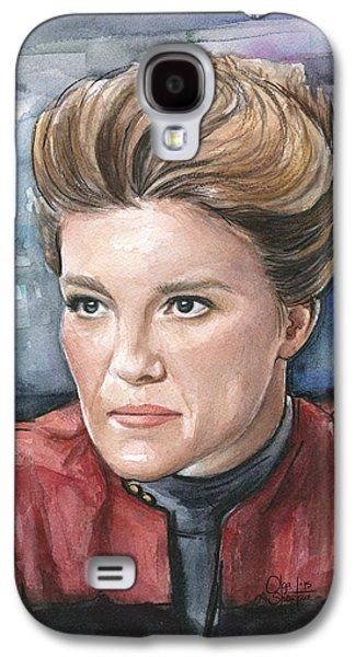 Captain Kathryn Janeway Portrait Galaxy S4 Case by Olga Shvartsur