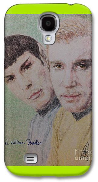 Captain Kirk And First Officer Spock Galaxy S4 Case by N Willson-Strader