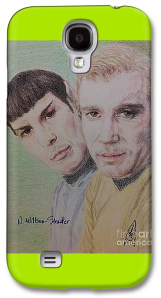Captain Kirk And First Officer Spock Galaxy S4 Case