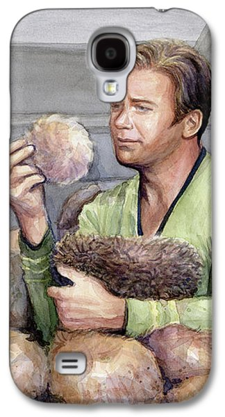 Captain Kirk And Tribbles Galaxy S4 Case by Olga Shvartsur