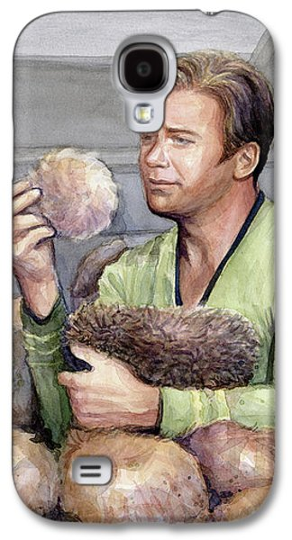 Science Fiction Galaxy S4 Case - Captain Kirk And Tribbles by Olga Shvartsur