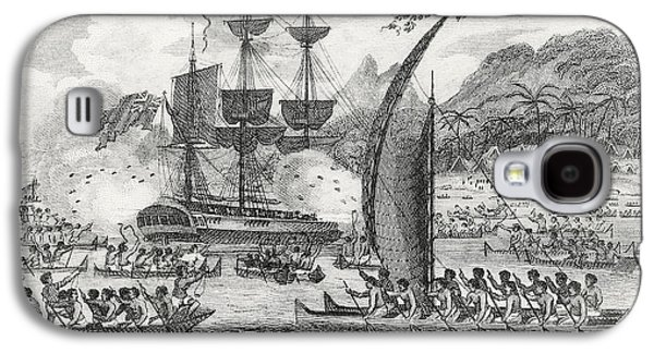 Captain Wallis Attacked By The Indians, 1767  Galaxy S4 Case by English School