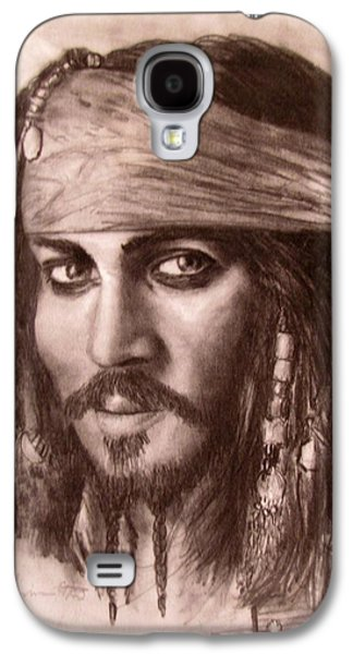 Jack Skinner Drawings Galaxy S4 Cases - Capt.Jack Galaxy S4 Case by Jack Skinner