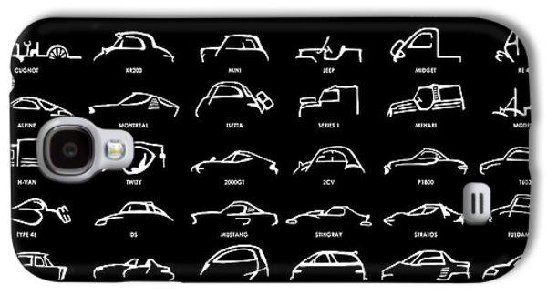 Car Icons Black Galaxy S4 Case