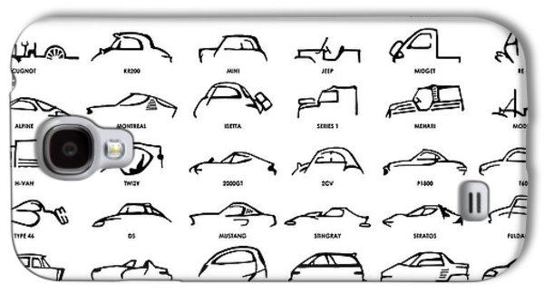 Car Icons White Galaxy S4 Case