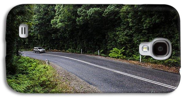 Car Travelling Through Rainforest In West Tasmania Galaxy S4 Case