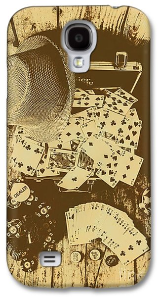 Card Games And Vintage Bets Galaxy S4 Case by Jorgo Photography - Wall Art Gallery