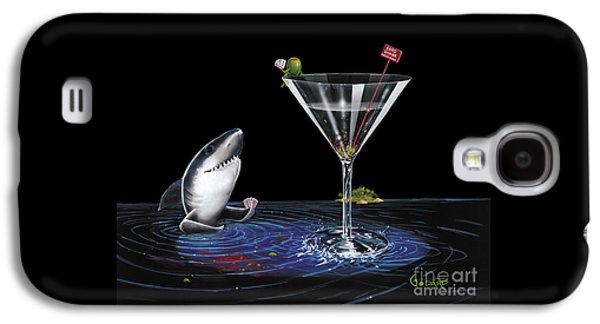 Sharks Galaxy S4 Case - Card Shark by Michael Godard