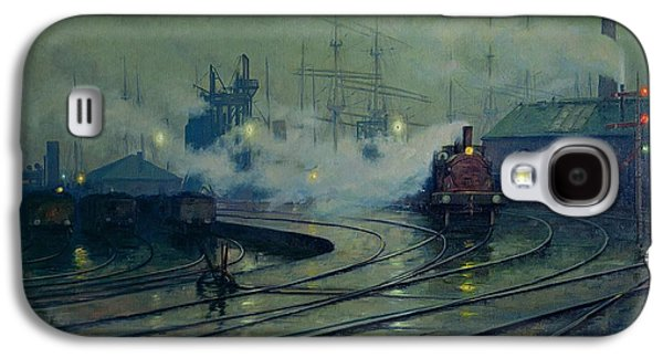 Train Galaxy S4 Case - Cardiff Docks by Lionel Walden