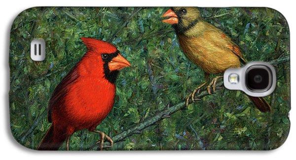 Cardinal Galaxy S4 Case - Cardinal Couple by James W Johnson