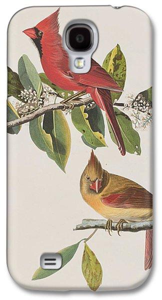 Cardinal Grosbeak Galaxy S4 Case by John James Audubon