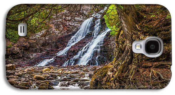 Galaxy S4 Case featuring the photograph Caribou Falls In Fall by Rikk Flohr