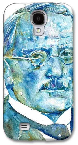 Carl Jung - Watercolor Portrait.6 Galaxy S4 Case by Fabrizio Cassetta