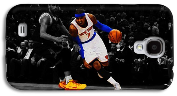 Carmelo Anthony Galaxy S4 Case by Brian Reaves