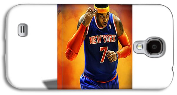 Carmelo Anthony Canvas Art Galaxy S4 Case