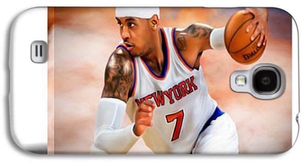 Carmelo Anthony IIi Canvas Art Galaxy S4 Case