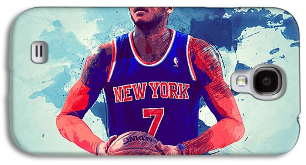 Carmelo Anthony Galaxy S4 Case by Semih Yurdabak