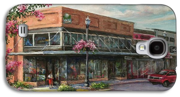 Store Fronts Paintings Galaxy S4 Cases - Carmens Corner Galaxy S4 Case by Virginia Potter
