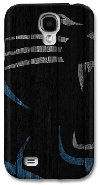 Caroilina Panthers Wood Fence Galaxy S4 Case by Joe Hamilton