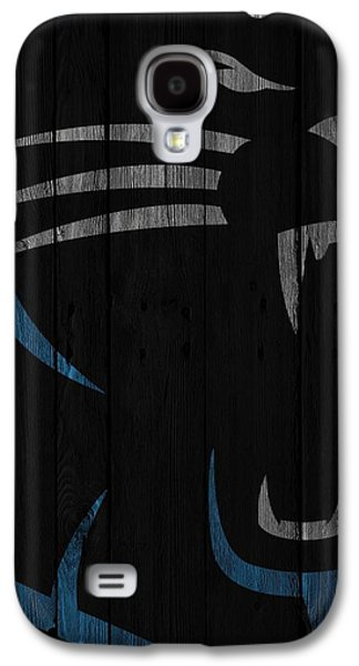 Caroilina Panthers Wood Fence Galaxy S4 Case by Joe Hamilton