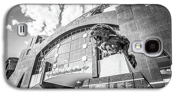 Carolina Panthers Stadium Black And White Photo Galaxy S4 Case by Paul Velgos