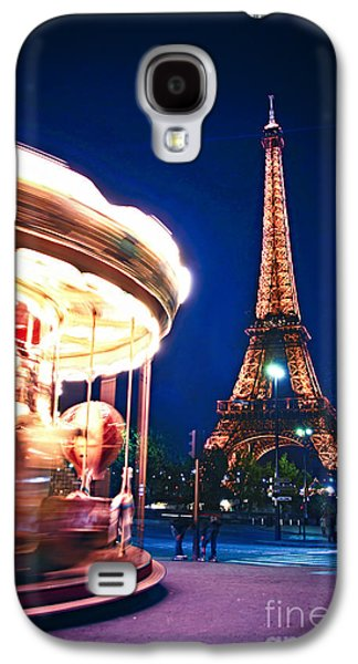 Carousel And Eiffel Tower Galaxy S4 Case by Elena Elisseeva