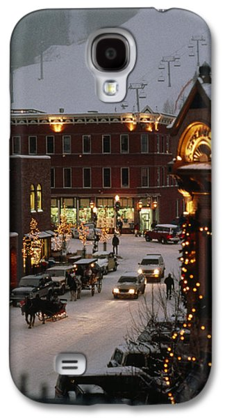Carriage And Slded On Snowy Steets Galaxy S4 Case