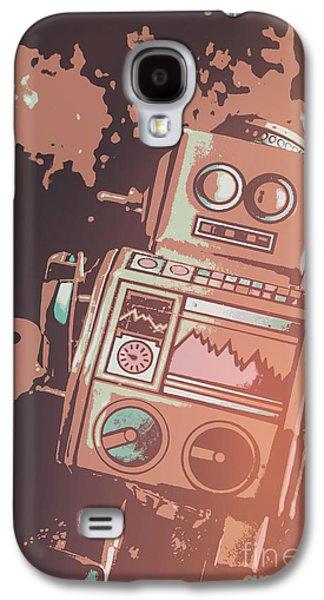 Cartoon Cyborg Robot Galaxy S4 Case by Jorgo Photography - Wall Art Gallery