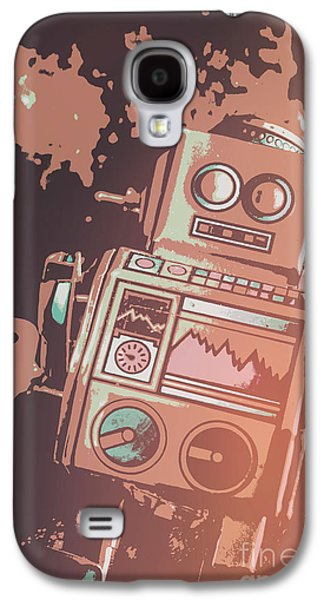 Cartoon Cyborg Robot Galaxy S4 Case