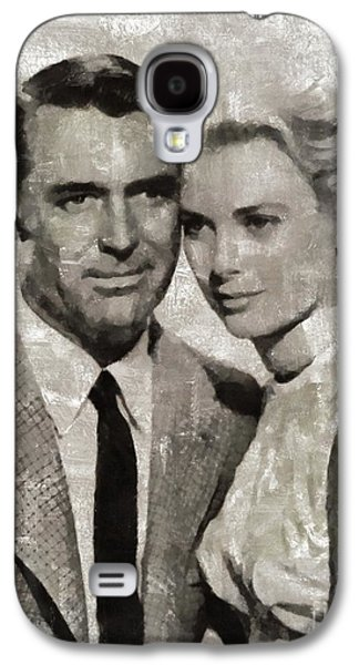 Grace Kelly Galaxy S4 Case - Cary Grant And Grace Kelly, Hollywood Legends by Mary Bassett