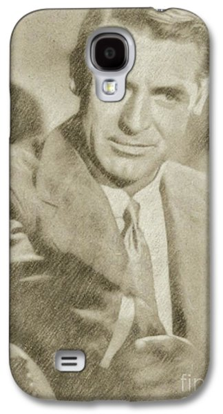 Cary Grant Hollywood Actor Galaxy S4 Case by Frank Falcon