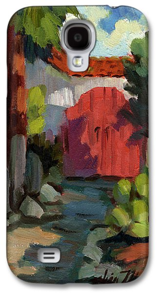 Temple Paintings Galaxy S4 Cases - Casa Tecate Gate Galaxy S4 Case by Diane McClary