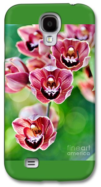 Cascading Miniature Orchids Galaxy S4 Case