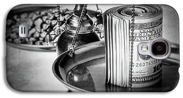 Cash Versus Gold Galaxy S4 Case by Tom Mc Nemar