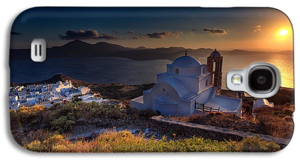Castle In Milos At Plakas Galaxy S4 Case by Andres Leon