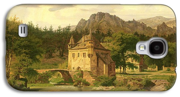 Castle In The Mountains Galaxy S4 Case by Carl Dahl