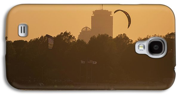 Castle Island Kite Boarded Boston Ma Sunset Prudential Galaxy S4 Case by Toby McGuire
