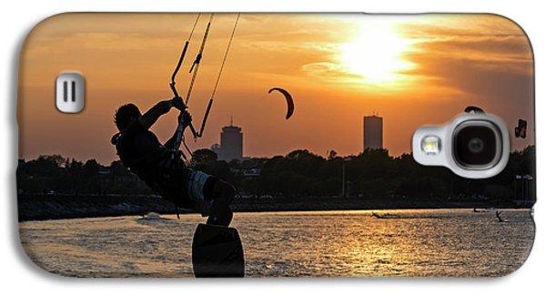 Castle Island Kite Boarder Boston Ma Sunset Galaxy S4 Case by Toby McGuire