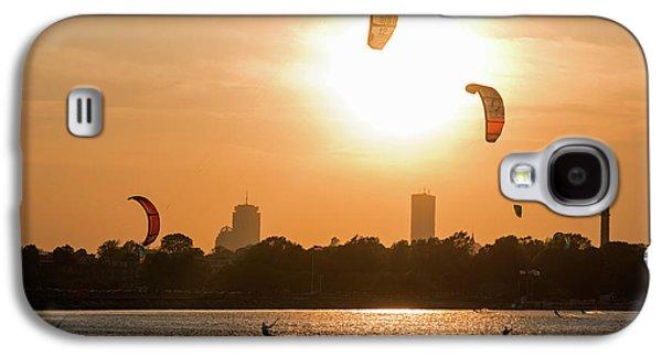 Castle Island Kite Boarders Boston Ma Sunset Galaxy S4 Case by Toby McGuire