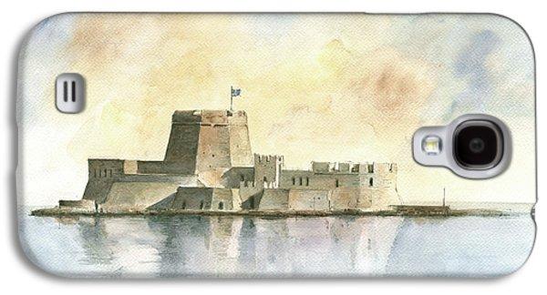Castle Of Bourtzi In Nafplio Galaxy S4 Case by Juan Bosco