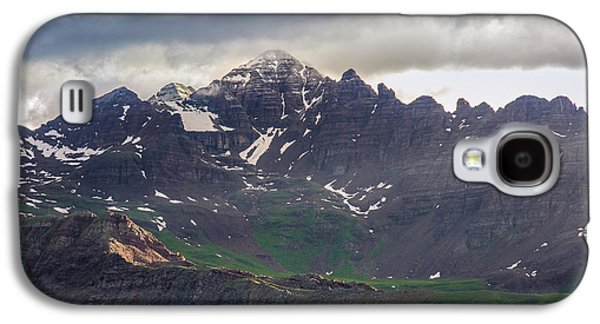 Galaxy S4 Case featuring the photograph Castle Peak by Aaron Spong