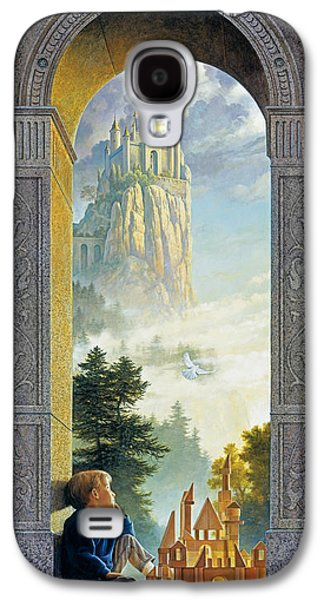 Plans Paintings Galaxy S4 Cases - Castles in the Sky Galaxy S4 Case by Greg Olsen