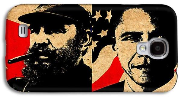 Castro And Obama Galaxy S4 Case by Andrew Fare