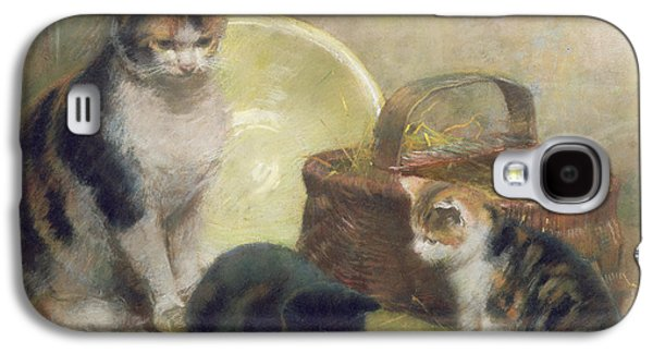 Cat And Kittens Galaxy S4 Case by Walter Frederick Osborne