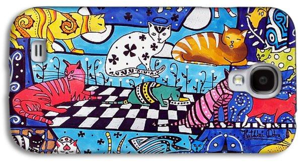 Cat Cocktail - Cat Art By Dora Hathazi Mendes Galaxy S4 Case