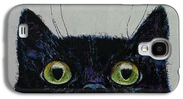 Cat Eyes Galaxy S4 Case by Michael Creese