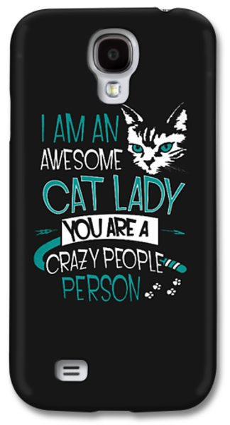 Cat Lady Galaxy S4 Case by Jackie Robinson