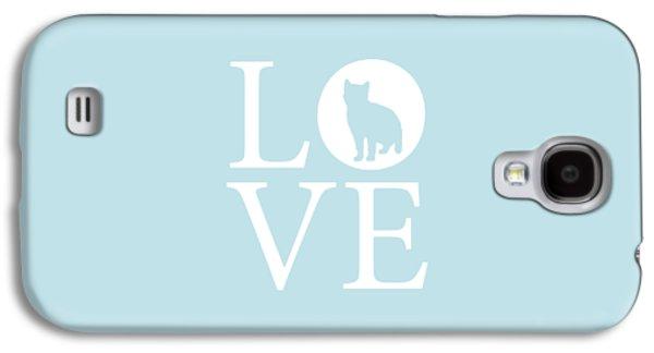 Cat Love Galaxy S4 Case by Nancy Ingersoll